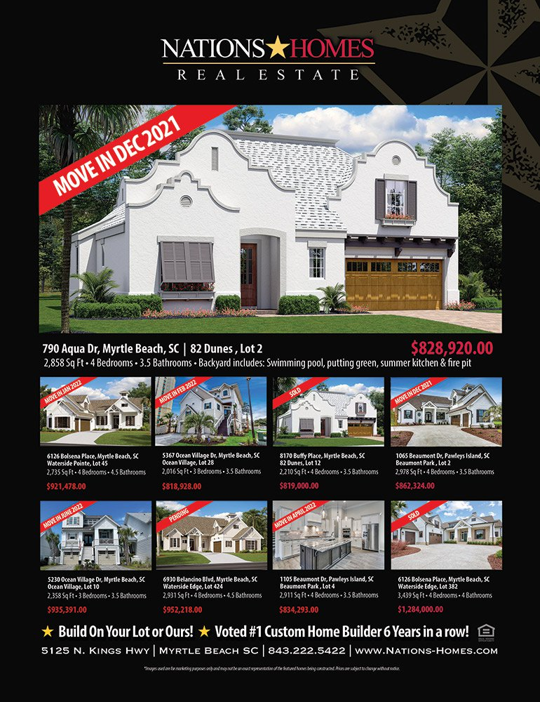 Grand Strand New Home Guide Nations Homes Ii Llc Ad New Home Builder In Myrtle Beach